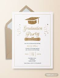 Formal College Graduation Announcements 48 Sample Graduation Invitation Designs Templates Psd