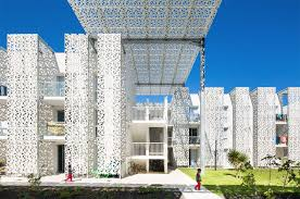 Cap d Agde Hotel, Jacques Ferrier Architecture, facade design, concrete,  concrete facade