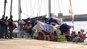 Migrant Rescue Ship Alex Ashore At Italian Island Lampedusa