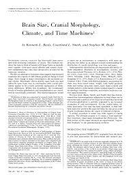 David Frayer Key Auto Group Pdf Brain Size Cranial Morphology Climate And Time Machines