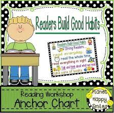 Reading Workshop Anchor Chart Readers Build Good Habits