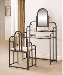 coaster  brown glass vanity set with stool  stealasofa