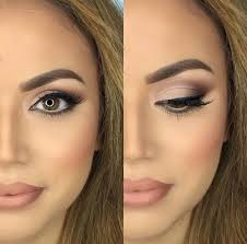 love this makeup look bronzed skin with a matte lip makeup trends insram eyeshadow looks and wedding makeup