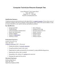 Endearing It Support Technician Resume Samples With Desktop Tech