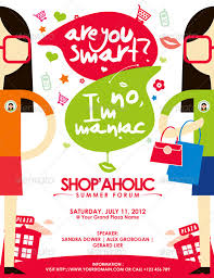 flyers forum shopaholic summer forum by mousecow graphicriver