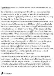 the crucible essay   year  hsc   english  advanced    thinkswapthe crucible essay