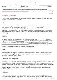 Lease Agreement Template Pdf Commercial Lease Agreement