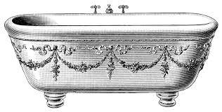 old fashioned bathtub clipart