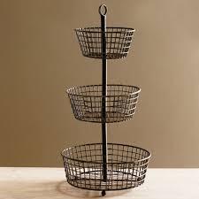 Rustic 3 Tier Fruit Basket Stand Design