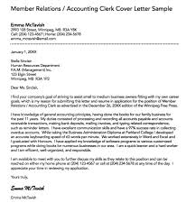 File Clerk Cover Letter Simple Accounting Clerk Cover Letter
