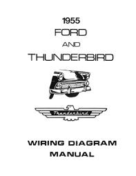 american motorabilia ford 1955 customline fairlaine thunderbird wiring diagram