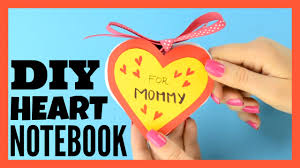 Diy Heart Notebook Mother S Day