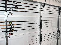 homemade fishing rod storage rack using the twist lock horizontal rod rack you can build a rod rack system for your garage door that will keep your fishing
