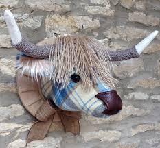 highland cow fabric