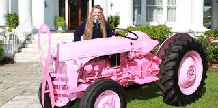 cassandra gifford is raising awareness for t cancer with a tractor she painted pink and named