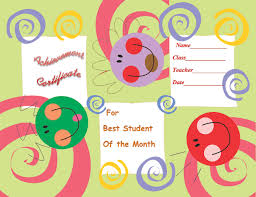 Student Of The Month Certificate Templates Free Printable Student Of The Week Certificate Back To