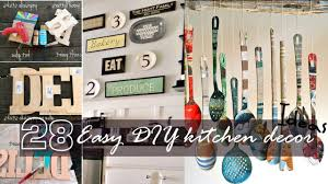 Diy Kitchen Decorating Easy Diy Kitchen Decor Youtube