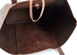 home tote bags ch handmade vintage leather tote bag