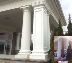 Decorative Interior Columns Pvc Column Wraps Column Covers Post Covers I Elite Trimworks