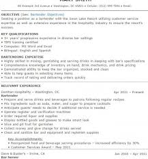 Sample Bartender Resume New Bartender Resume Sample Templates Lively Bartending Samples Sample