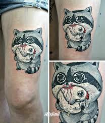 значение татуировки енот фото и эскизы тату енот Rustattooru