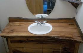 custom bathroom vanities ideas. Wooden Custom Bathroom Vanities With Tops Under Frameless Round Mirror Ideas T