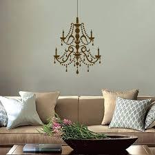 chandelier wall decor canvas fancy crystal vinyl