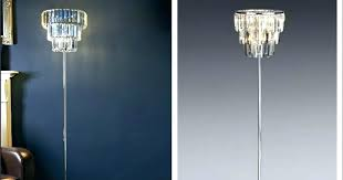 crystal chandelier floor lamp one of these lamps costs and is can you tell the difference crystal chandelier floor lamp