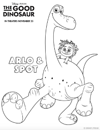 Small Picture The Good Dinosaur Coloring Pages Dinosaur printables