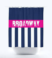 pink and white shower curtain shower curtain with vertical stripes and new city skyline navy blue