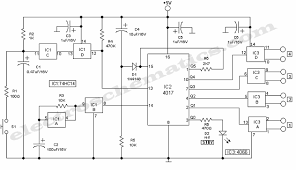 ic 4017 circuits and projects Light Switch Wiring Diagram at 4017 Wiring Diagram