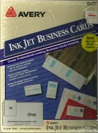Avery 8377 Avery Ink Jet Business Cards 8377 Gray 250 Standard Size Business