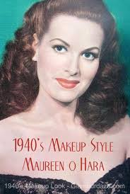 1940s makeup look maureen o hara
