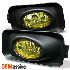 Fits 04 05 Acura Tsx Jdm Yellow Bumper Fog Lights Lamp Switch Left Right