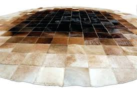 furniture round cowhide rugs genuine natural cow hide skin leather rug for low view of
