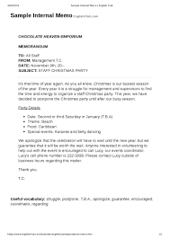 Business Memo Format Memo Sample Template Seraffino Com