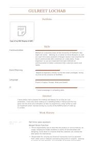 Part Time Sales Assistant Resume samples