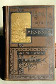 embossed book cover mark twain antique gold embossed era art binding book covers