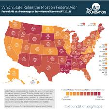 Tennessee Tax Chart Map How Much Each State Relies On The Federal Government