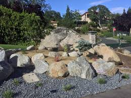 boulder retaining wall after 2