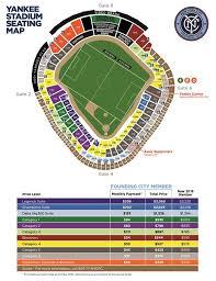 Yankees Tickets Seating Chart New York City Fc Yankee Stadium Seating Map September 14