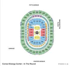 Ppg Arena Seating Chart Penguins Consol Energy Center Penguins Seating Chart Efficient Consol