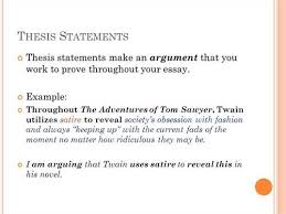 Writing a Thesis Statement  The Point of a Literary Analysis When