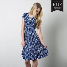 Knit Skirt Pattern Magnificent Davie Dress Sewing Pattern By Sewaholic Patterns With Keyhole