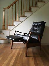 mid century recliner. MILO BAUGHMAN James Incorporated Thayer Coggin Mid Century Black Recliner Chair