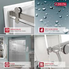 delta 48 in to 60 in contemporary sliding shower door track assembly kit