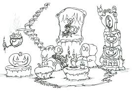 Small Picture Halloween Coloring Pages Preschool Skeleton Halloween Coloring