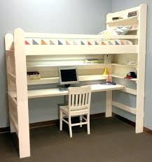 bunk bed office underneath. Desk Bunk Bed Plans Loft With . Office Underneath