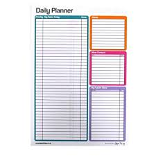 Daily Planner Sheets A4 Large Daily Planner Notepad Double Sided 75 Sheets Per Pad Size 297mm X 210mm