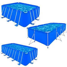 rectangle above ground swimming pool. Image Is Loading VidaXL-Above-Ground-Swimming-Pool-Spa-Steel-Frame- Rectangle Above Ground Swimming Pool E
